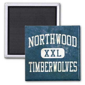 Northwood Timberwolves Athletics 2 Inch Square Magnet