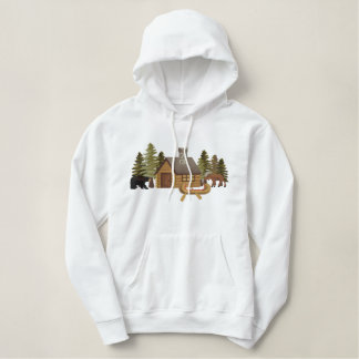 Northwoods Cabin Embroidered Hoodie