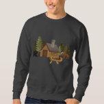 Northwoods Cabin Embroidered Sweatshirt