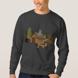Northwoods Cabin Embroidered Sweatshirt