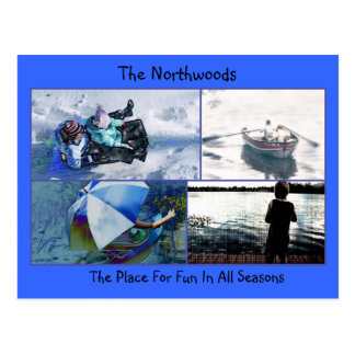 Northwoods Fun Postcard