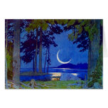 Northwoods Moon Blank Invitation Note Card
