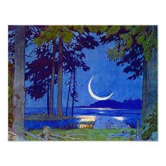 "NORTHWOODS MOON SAVE THE DATE NOTE EZ2 CUSTOMIZE 4.25"" X 5.5"" INVITATION CARD"