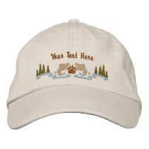 Northwoods Wildlife Embroidered Baseball Hat