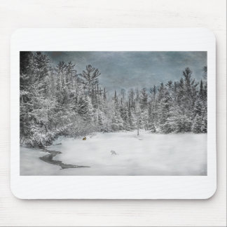 Northwoods Winter Scene Mouse Pads