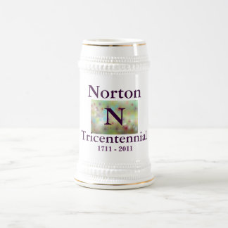 Norton 1711 - 2011 Tricentennial blanco Stein Taza De Café