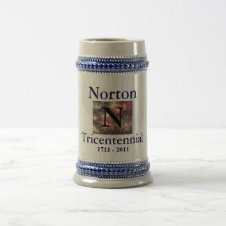 Norton 1711 Tricentennial - 2011 blancos y St azul Tazas De Café