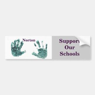Norton - apoye a nuestra pegatina para el parachoq pegatina para auto