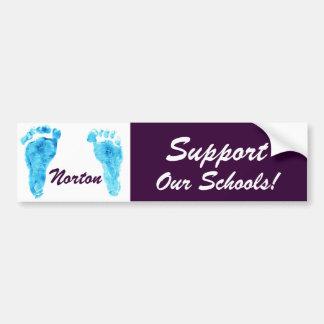 ¡Norton - apoye nuestras escuelas! Pegatina para e Pegatina Para Auto