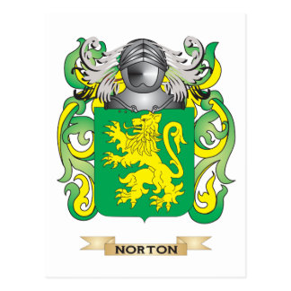Norton Coat of Arms Family Crest Post Cards