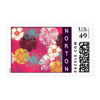 Norton Floral Postage Stamps