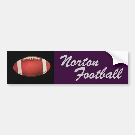 Norton Football Bumper Sticker