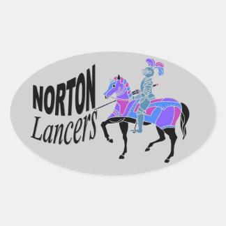 Norton Lancers Stickers