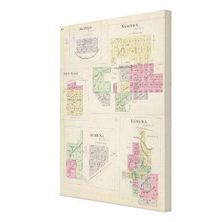 Norton, Lenora, Almena, Densmore, Almelo, Kansas Canvas Print