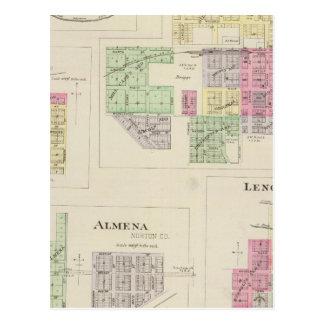 Norton, Lenora, Almena, Densmore, Almelo, Kansas Postales