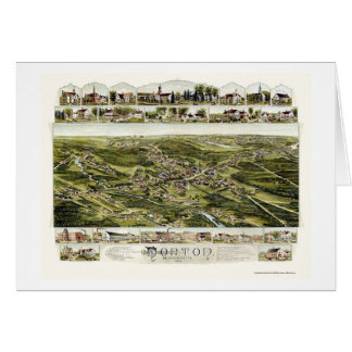 Norton, MA Panoramic Map - 1891 Card