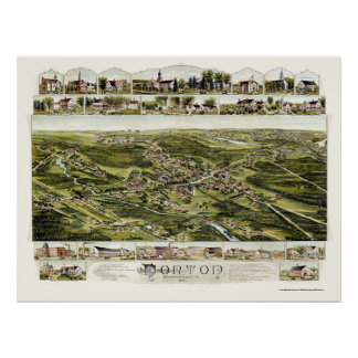 Norton, MA Panoramic Map - 1891 Poster