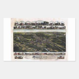 Norton, Massachusetts (1891) Rectangular Sticker