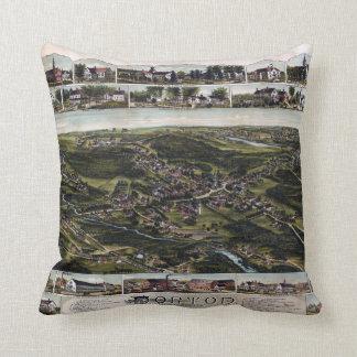 Norton, Massachusetts (1891) Throw Pillow