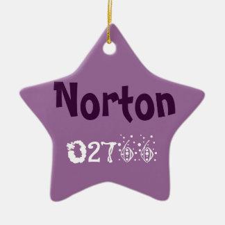 Norton Ornamnet Double-Sided Star Ceramic Christmas Ornament