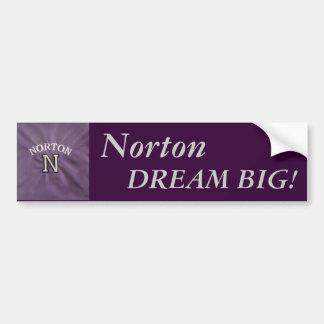 "Norton pegatina para el parachoques ""grande"" ideal pegatina para auto"