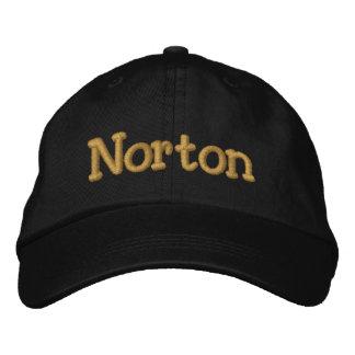 Norton personalizó la gorra de béisbol/el gorra gorro bordado