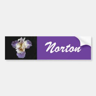 Norton Purple Iris Bumper Sticker Car Bumper Sticker