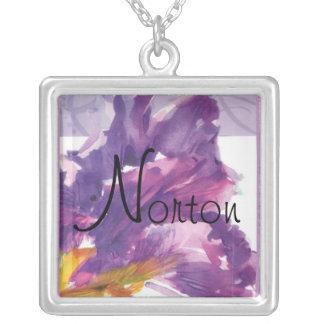 Norton Purple Iris Necklace