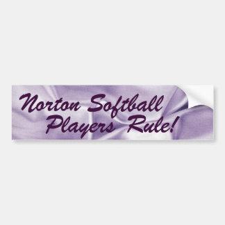 Norton Softball Players Rule! Bumper Sticker
