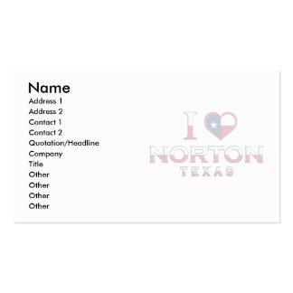 Norton, Tejas Plantilla De Tarjeta Personal