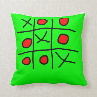 Norts and crosses throw pillow