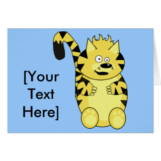 Norty Tiger Greetings Card