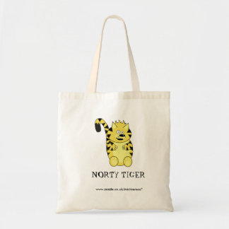 Norty Tiger Tote Bags