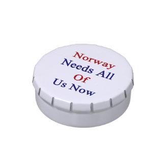 Noruega ahora necesita todos nosotros latas de caramelos