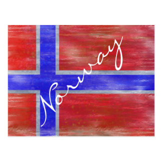 Noruega apenó la bandera noruega postal