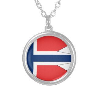 Noruega-Bandera #2 Collar Plateado