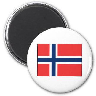 Noruega - bandera noruega imán de frigorifico