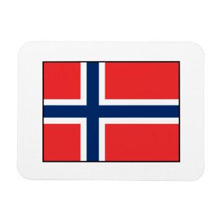 Noruega - bandera noruega imán de vinilo