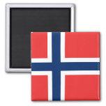 Noruega - bandera noruega imán cuadrado