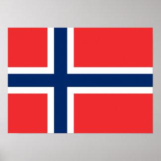 Noruega - bandera noruega posters