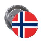 Noruega - bandera noruega pin redondo de 2 pulgadas