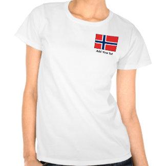 Noruega - bandera noruega camisetas