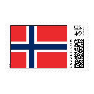 Noruega - bandera noruega franqueo