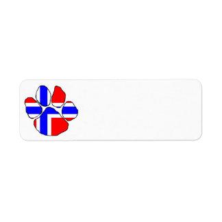 Noruega-bandera paw png etiquetas de remite
