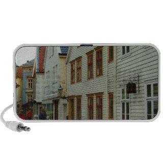 Noruega Bergen casas de madera y adoquines iPhone Altavoces