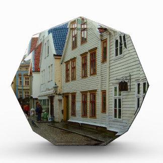 Noruega Bergen casas de madera y adoquines