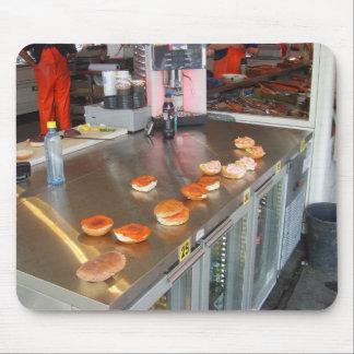 Noruega, Bergen, hamburguesas de los pescados, Mouse Pads