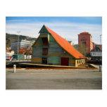 Noruega, Bergen, warhouse del estilo tradicional, Tarjeta Postal