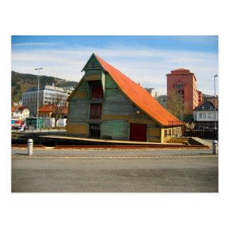 Noruega, Bergen, warhouse del estilo tradicional, Tarjetas Postales