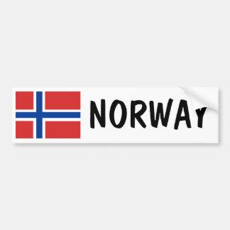 Noruega Etiqueta De Parachoque
